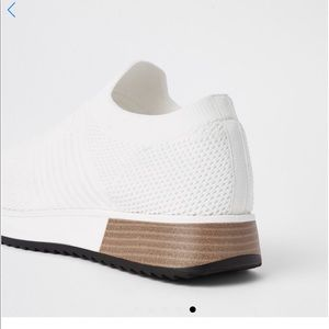 White knitted sneakers
